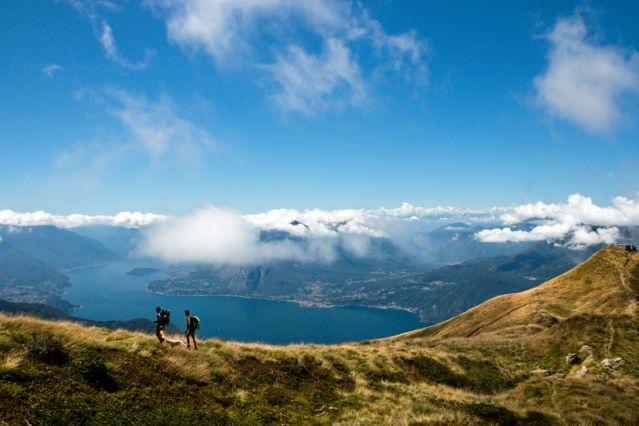 Au-dessus du lac de Côme - Italie