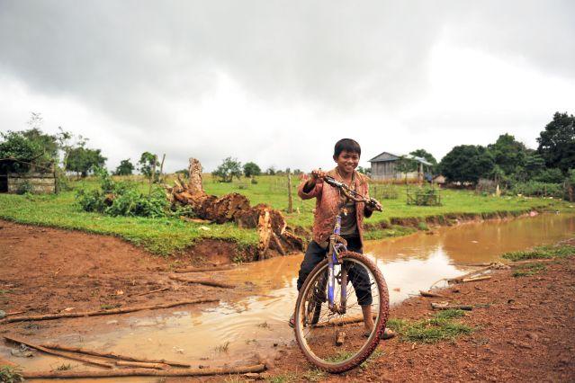 Portrait d enfant - Province de Mondol Kiri - Cambodge
