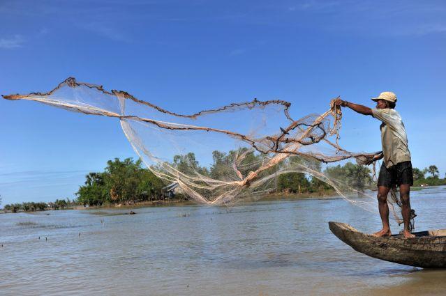 Bateau - Rivière Stung Sen - Cambodge