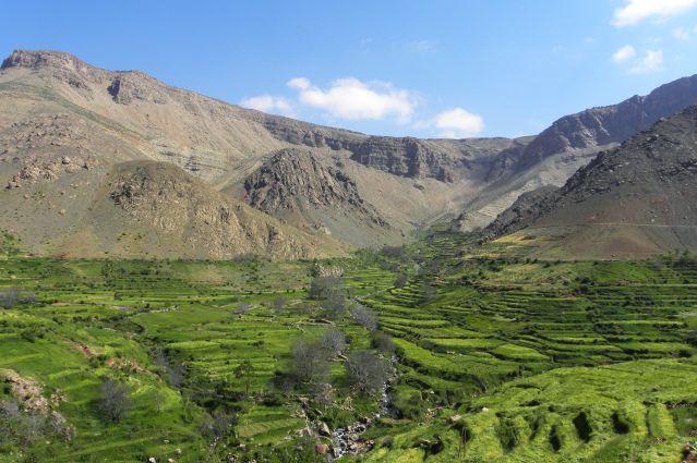 Les pâturages des bergeries d'Anhki - Maroc