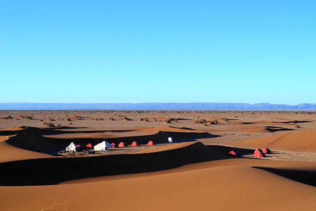 Bivouac à l Erg Zaher - Sud marocain