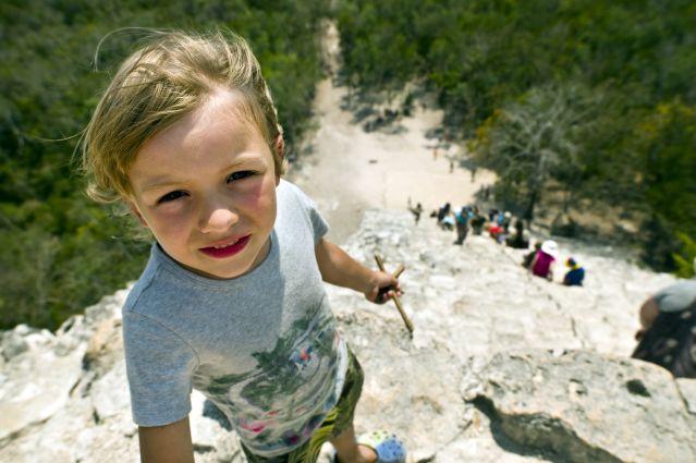 Au sommet de la pyramide de Cobá - Yucatan - Mexique