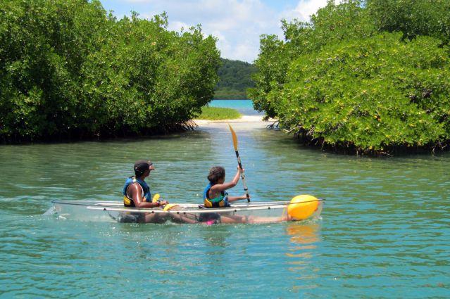 Pirogue transparente - Martinique