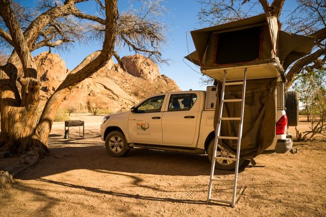 4x4 tente de toit - Damaraland - Namibie