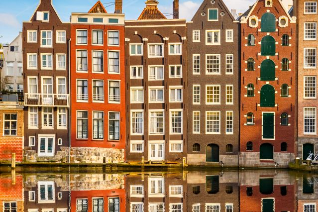 Immeubles traditionnels d Amsterdam - Pays-Bas