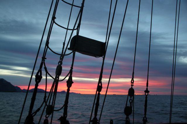 Navigation dans la région de Tromso - Norvège