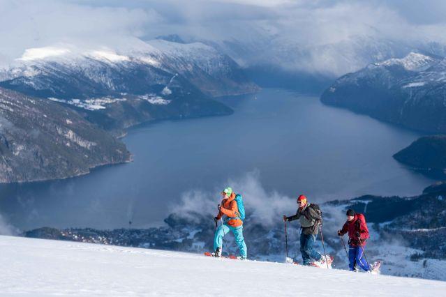 Raquette dans les Alpes norvégiennes