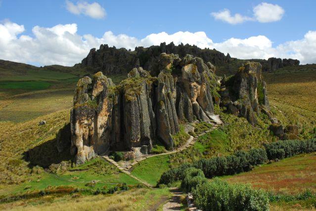 Vue d ensemble des formations Cumbemayo - Cajamarca - Pérou