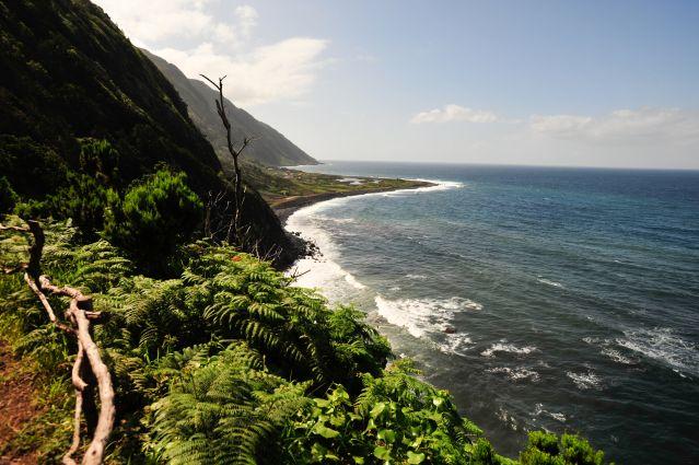 Sentier côtier pour Fajas dos Cubres - Ile de Sao Jorge - Açores