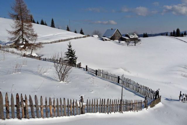 Village typique en Bucovine - Roumanie