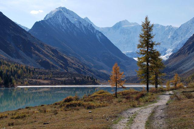 Vue au pied du mont Béloukha - Altai - Russie