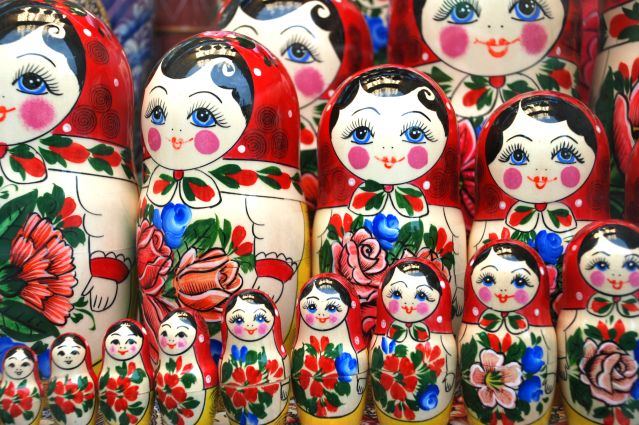 Poupée russe à Moscou - District fédéral central - Russie