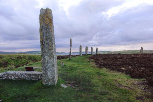 Cercle de pierres levées du Ring of Brodgar - Ile de Mainland - Iles Orcades - Ecosse