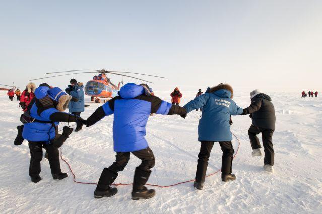 Voyage Le pôle Nord en hélicoptère