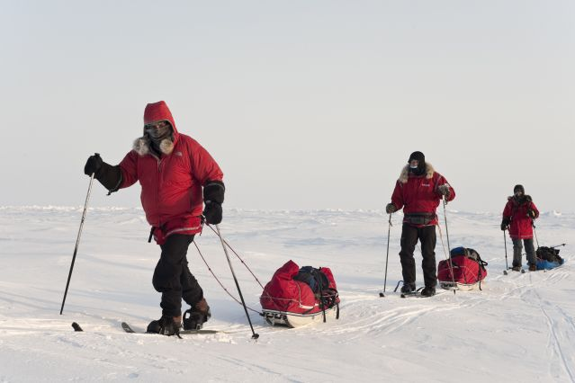 Randonnée à ski au Pôle Nord