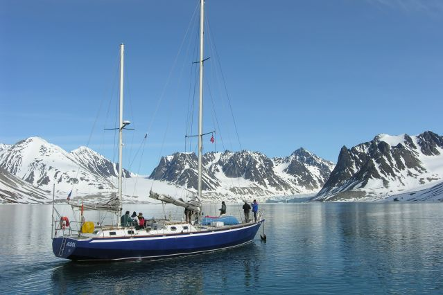 L Algol dans la Baie de la Madeleine, au Spitzberg - Norvège