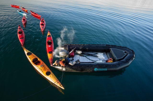 Départ de la balade en Kayak - Spitzberg