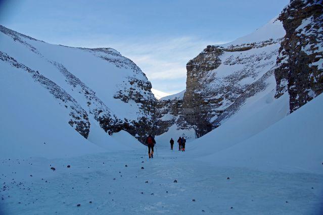Canyon de Noisdalen - Raid à ski au Spitzberg - Norvège