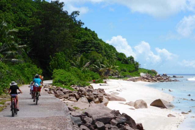 Journée de vélo à La Digue - Seychelles