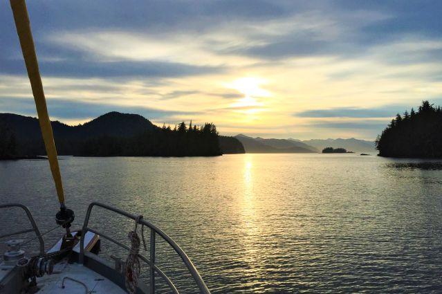 Coucher de soleil - Fjord - Baie du Prince William - Alaska - Etats-Unis