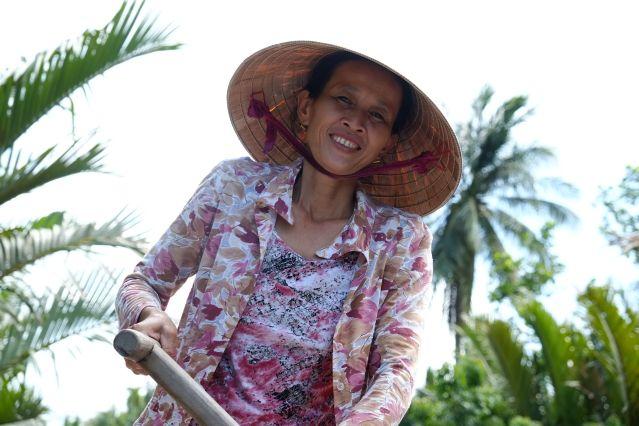 Portrait de femme - Delta du Mékong - Province de Ben Tre - Vietnam