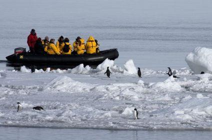 L'Antarctique avec le passage du Drake en avion