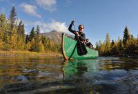 Descente de la rivière Big Salmon en canoë