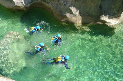 Canyoning en sierra de Guara