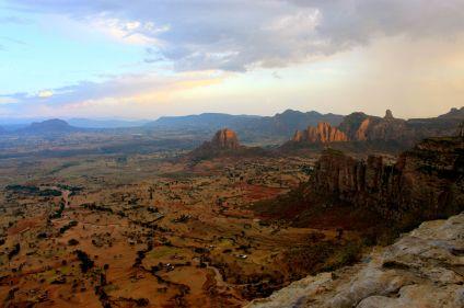 Abyssinie, massif du gheralta, volcan du Dallol