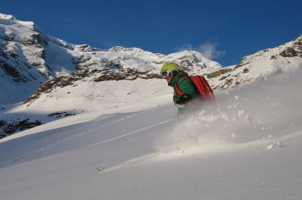 Ski freeride Alagna Gressoney - mont Rose