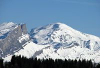 Pays du Mont-Blanc sous la neige