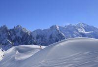 Ski de rando sur les glaciers de Chamonix