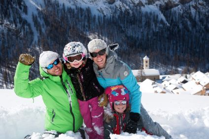 Neige et soleil du Queyras en famille