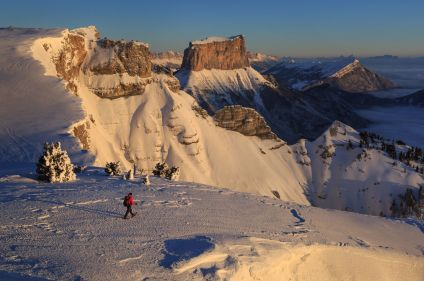 Vercors et Mont Aiguille sous la neige