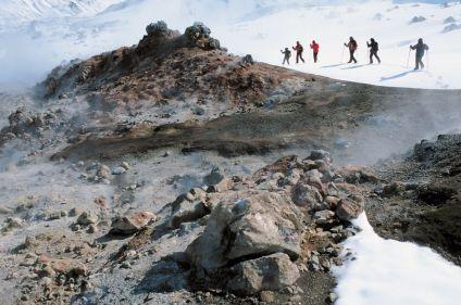Randonnée en raquettes entre feu et glace