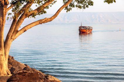 Galilée, lac de Tibériade et montagnes de Judée