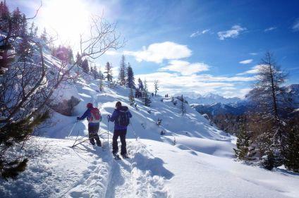 Randonnée hivernale dans les Dolomites
