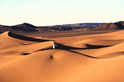 Oued Drâa et dunes du Sahara