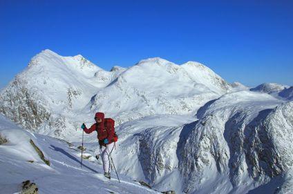Ski de rando à bord d'un vieux gréément