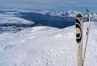 Ski de rando dans les fjords autour d'Alta