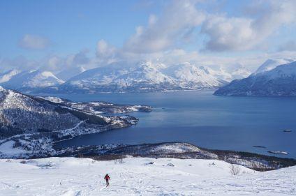Randonnée hivernale dans les Alpes de Lyngen