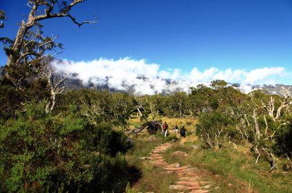 Randonnée sur l'île volcan