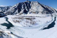 Les sommets enneigés de l'Altai