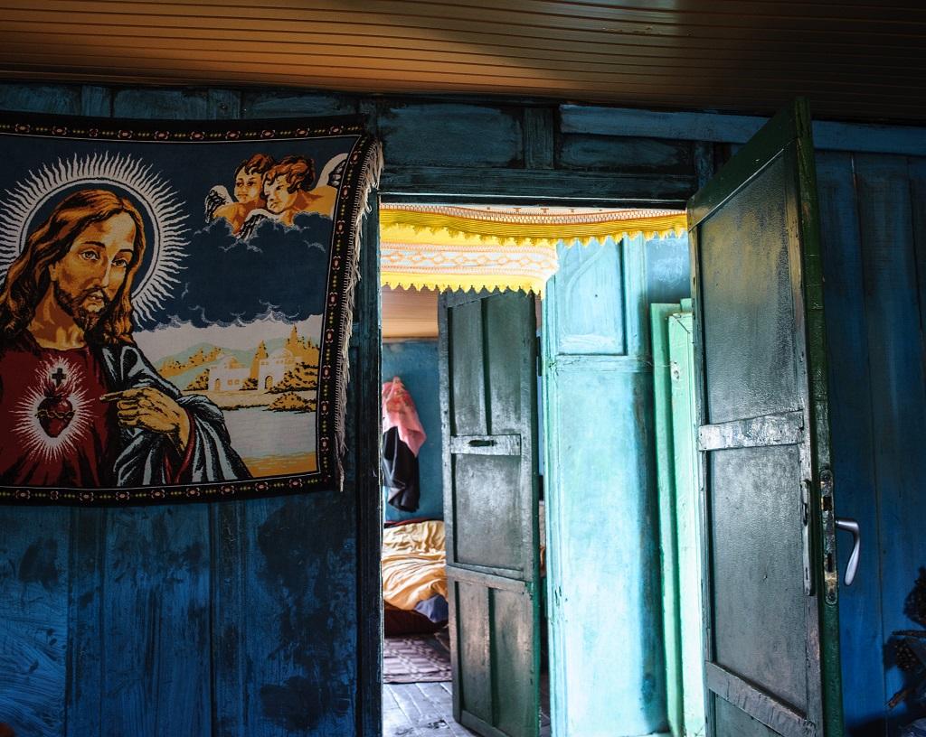 Perspective saisie dans une maison traditionnelle de la région de Shkodër, au nord de l'Albanie - ©Guillaume Herbaut