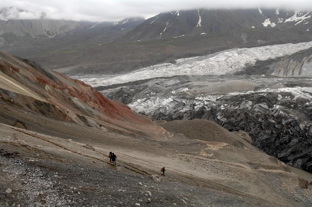 Vue sur le glacier nord, Kirghizie