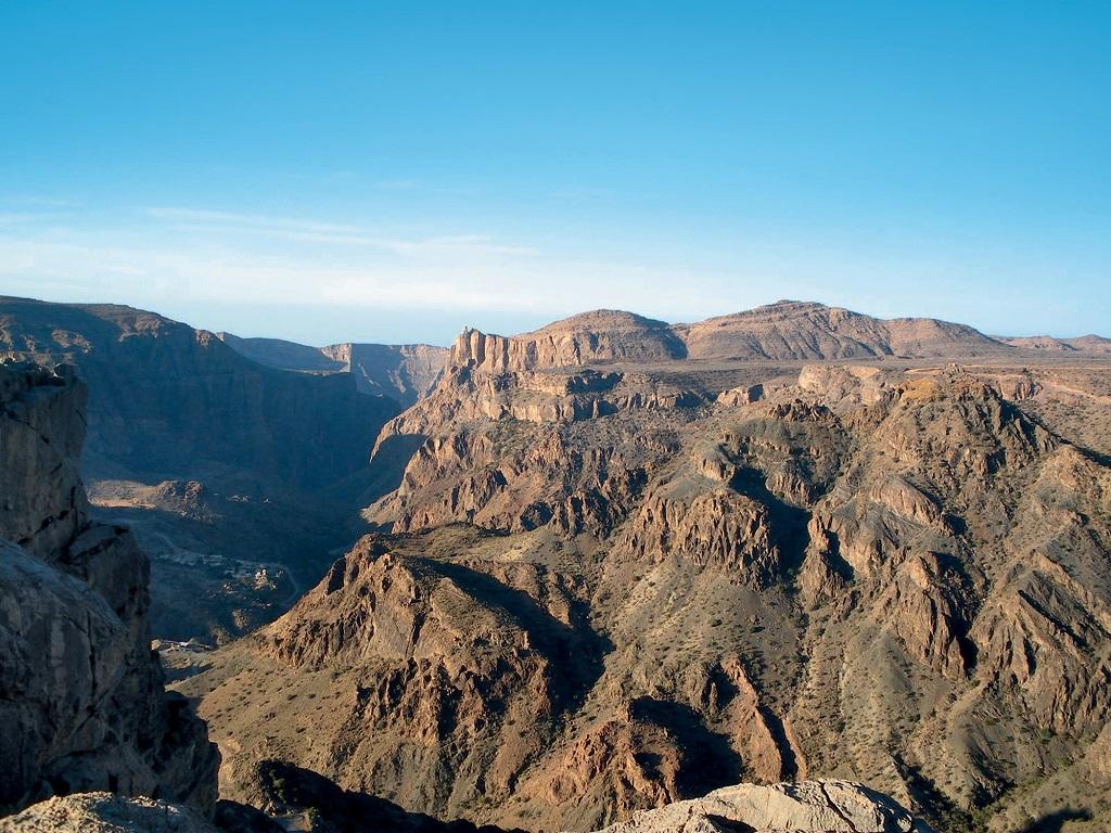 Point de vue sur les montagnes du Djebel Akhdar