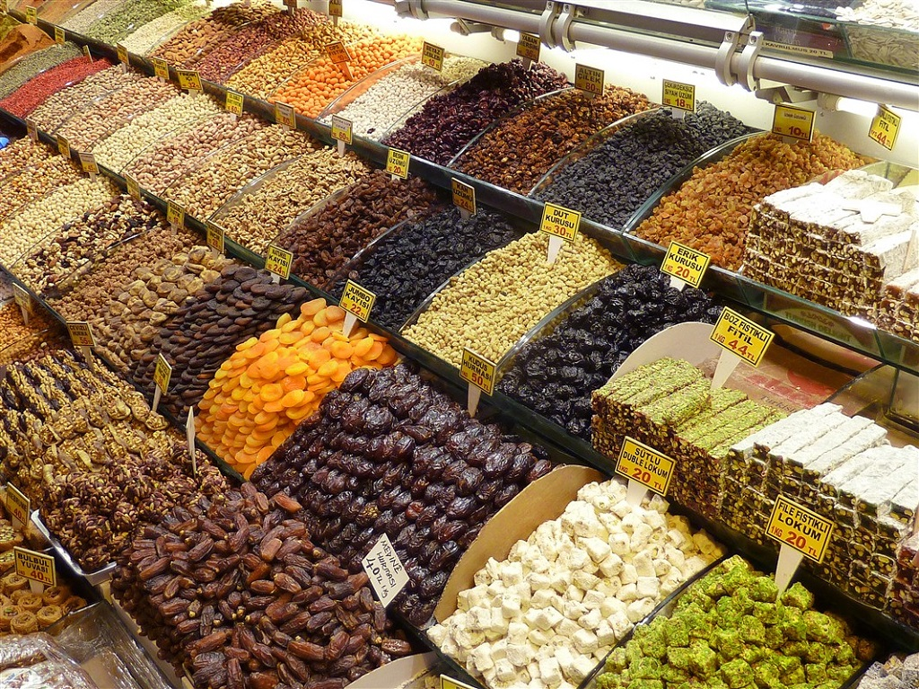 Le marché de Istanbul, Turquie