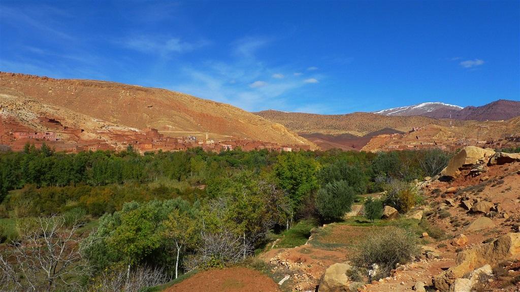 La vallée d'Ounila entre Anguelz et ait ben haddou - Maroc