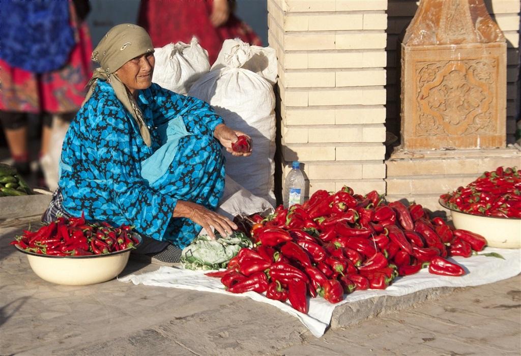 Marché de Khiva, Ouzbékistan