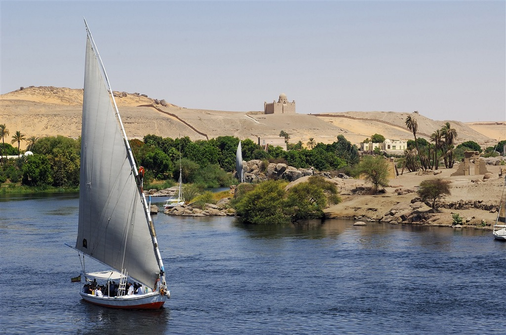 Felouques à Assouan - Vallée du Nil, Egypte